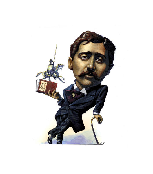 An illustration of Marcel Proust, who is the subject of an exhibition at New York's Morgan Library.