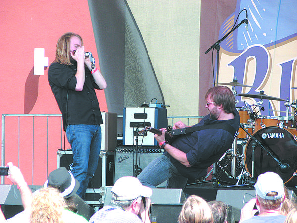 Submitted photo Blues duo Moreland & Arbuckle perform at the 2012 Western Maryland Blues Fest, above. The pair will perform Thursday, March 7, for Cabin Fever Blues Bash.