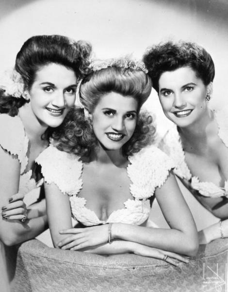 The Andrews Sisters are the subject of a musical revue in the 2013-14 season at Winter Park Playhouse. Pictured, left to right: Maxene, Patty and LaVerne