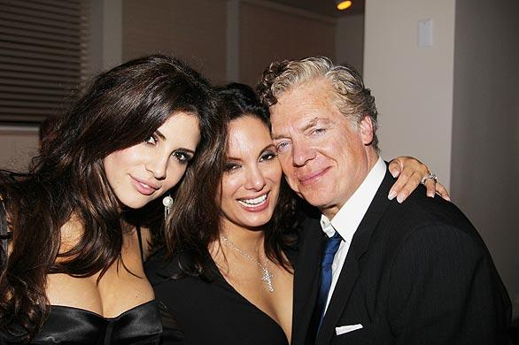 From left, model and TV personality Hope Dworaczyk, actress Alex Meneses and actor Christopher McDonald at a private party for the Los Angeles Italia Film, Fashion and Art Fest.