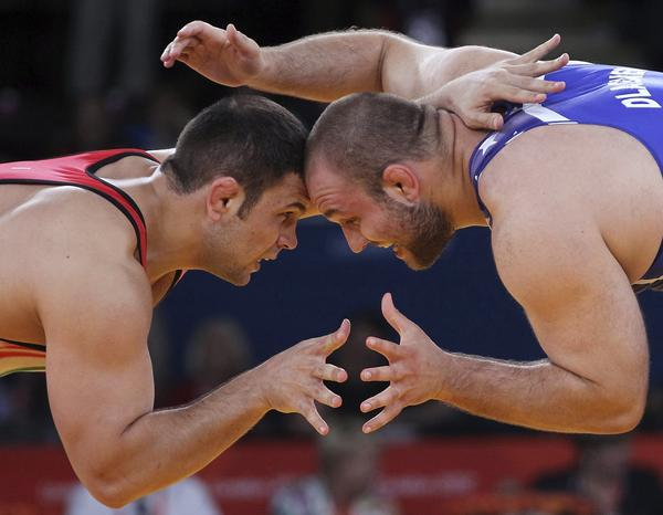 Wrestling was one of the original sports in the ancient Olympics in Greece, back when the Games were part of mankinds transition to civilized society.
