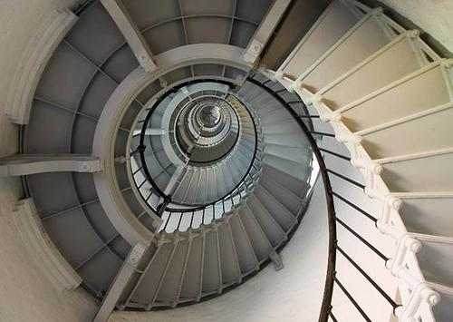 There are 203 steps on the spiral staircase that leads to the top of the Ponce Inlet Lighthouse.