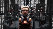 "Ahsoka Tano faces trial in the High Courts of the Galactic Republic in the shocking Season 5 finale of ""Star Wars: The Clone Wars."""