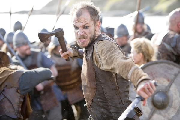 "Floki (Gustaf Skarsgard) is ready for battle in ""Vikings."""