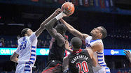 When push came to shove — and certainly there was plenty of pushing and shoving Wednesday night — No. 10 Louisville managed to elbow its way past DePaul with a 79-58 victory.