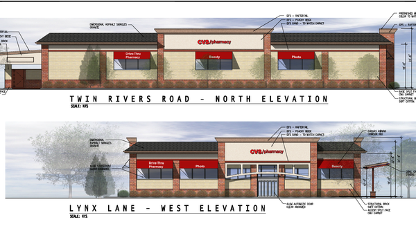 A CVS is scheduled to be built on the current site of the Crown gas station. The building will front to Lynx Lane.