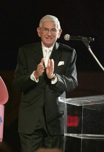 Gala co-chairman Eli Broad, a major contributor to the museum, speaks at the dinner.