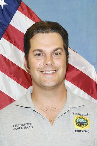 James Haag has been named the 2012 Firefighter of the Year by the Boca Raton Fire Department.