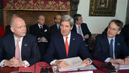 ROME -- U.S. Secretary of State John Kerry pledged an additional $60 million in aid to Syrian opposition forces Thursday, including food and medical support directly to armed rebels for the first time but turning aside their demand for weapons.