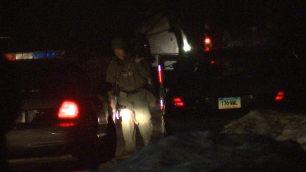 The state police S.W.A.T. team responded to a standoff in Bozrah, which ended around 1:40 a.m. Thursday.
