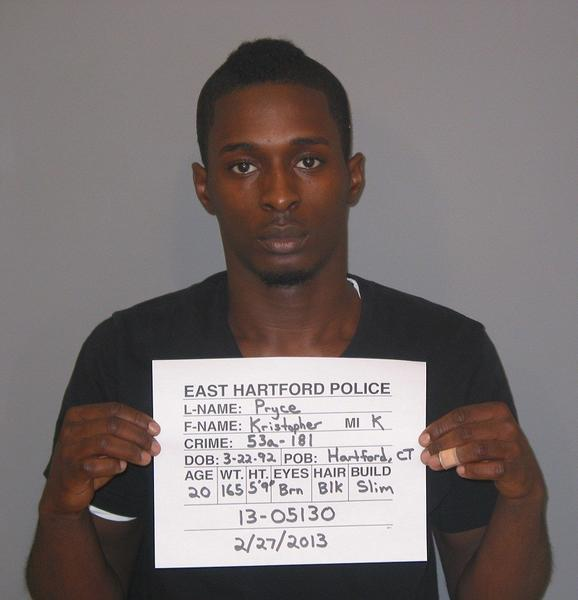 Kristopher Pryce, of East Hartford, was arrested in connection to the fatal stabbing of Luis Lopez. He is being held on a $500,000 bail.