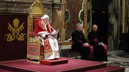 Photos: Pope Benedict XVI bids farewell to cardinals on final day