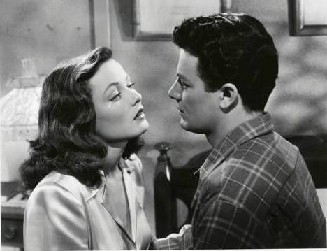 """Leave Her To Heaven"" is a 1945 film starring Gene Tierney, Cornel Wilde, Jeanne Crain, Vincent Price. IMDB synopsis: ""A writer meets a young socialite on board a train. The two fall in love and are married soon after, but her obsessive love for him threatens to be the undoing of both them and everyone else around them."""