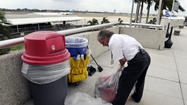 TONS OF TRASH COLLECTED > Fort Lauderdale-Hollywood International Airport: 10 tons; Palm Beach International Airport: 4 tons; Miami International Airport: 12 tons