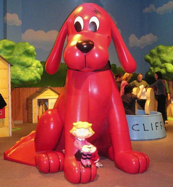 Clifford the Big Red Dog, a temporary exhibit, will be on display through April 21 at the Virginia Air and Space Center in Hampton.