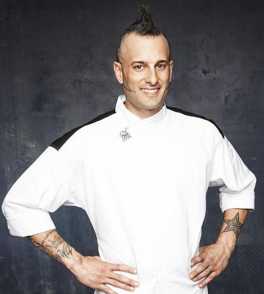 Age: 35<BR>  Hometown: Long Island, NY<BR>   Occupation: Head Chef  <BR> Signature Dish: Pork Loin Roulade with Mushrooms and Spinach Cream Sauce with Smashed Roasted Garlic Potato