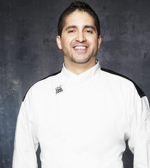 Age: 32  <BR> Hometown: Brooklyn, NY<BR>       Occupation: Sous Chef <BR> Signature Dish: Sea Bass ¿Sea Farce¿ (aka Salmon and Shrimp Corndogs)