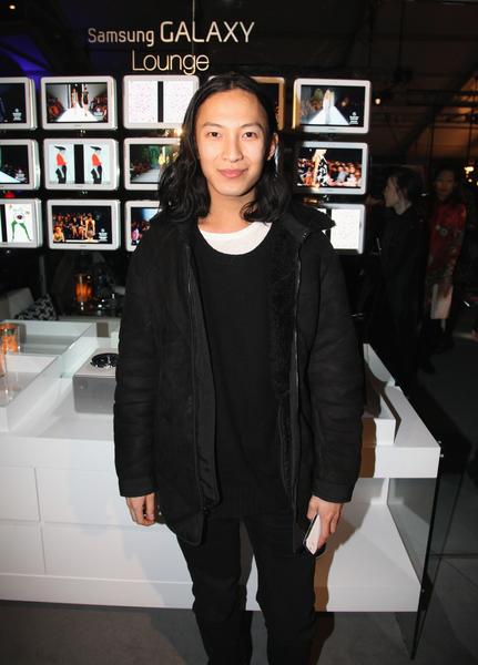 Alexander Wang debuted his first collection for Balenciaga at Paris Fashion Week. Here, Wang is seen during New York Fashion Week.