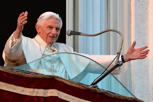 Pope Benedict XVI waves to faithful from a balcony upon arrival in Castel Gandolfo. Once he steps down later in the day, Pope Benedict XVI will begin his retirement in the papal summer residence at Castel Gandolfo, a sumptuous villa outside Rome with ornamental gardens, breathtaking views and its own farm.