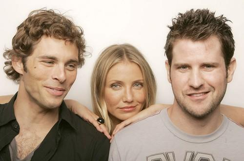 James Marsden,left, with Cameron Diaz and director Richard Kelly discuss 'The Box' at Comic-Con.