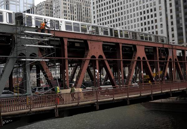 The Wells Street bridge reconstruction will cause two nine-day interruptions to CTA Purple and Brown Lines in March and April.