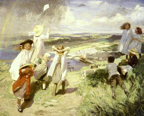 Laura Knight, Flying the Kite, 1910, oil on canvas, South African National Gallery, Cape Town