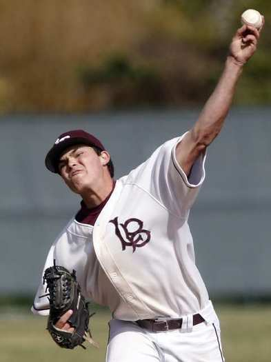 Pitcher Larry Stewart is a key player for Laguna Beach High's baseball team.