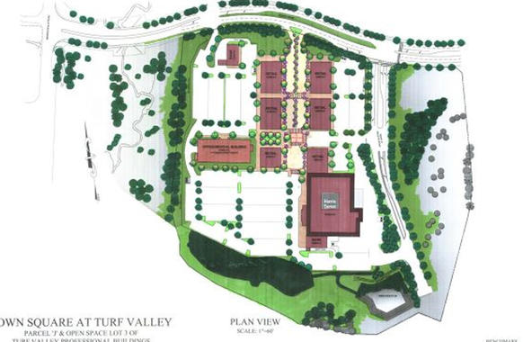 "The Towne Square at Turf Valley shopping center will include a Harris Teeter grocery store and 60,000 square feet of restaurants and retail. Harris Teeter is expected to open in April with other stores opening in late spring and early summer, according to Matt Mittenthal, vice president and assistant director of asset manager for Towne Square developer Greenberg Gibbons. <a href=""http://www.baltimoresun.com/explore/howard/news/ph-ho-cf-turf-valley-roads-0308-20120306,0,7634173,full.story"" target=""_blank"">Click here to read about nearby residents traffic concerns regarding the redevelopment.</a>"