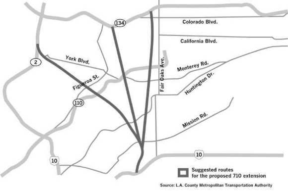 710 Freeway extension options