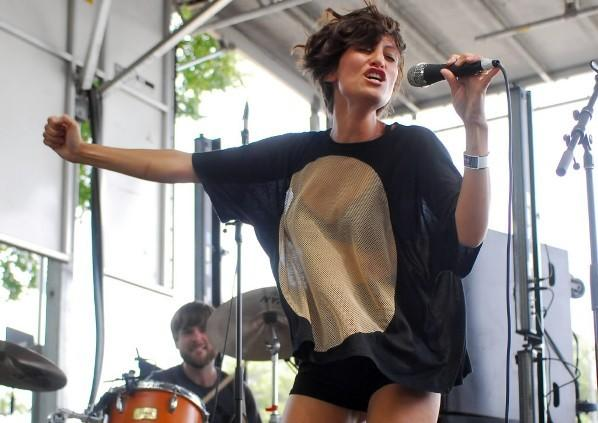 Dragonette performs during Lollapalooza in Grant Park Aug. 7, 2010.