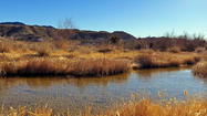 On the watery trail in Mojave, Calif.