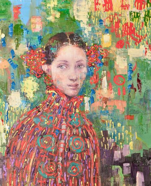 "Rimi Yang's ""Portrait in the Garden"" will be on display at the JoAnne Artman Gallery from April 1 to May 31."