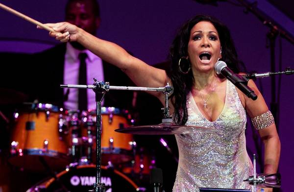 Sheila E. performs at the Playboy Jazz Festival at the Hollywood Bowl on June 16, 2012.