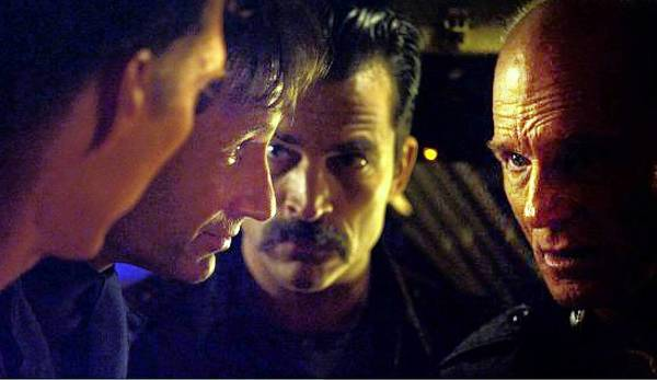 "Ed Harris, far right, portrays a Russian submarine captain on his final mission to hand over a vessel to the Chinese in the Cold War-era thriller ""Phantom."""