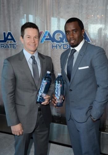 Mark Wahlberg and Sean 'Diddy' Combs promoting AQUAhydrate