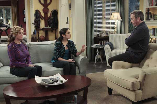 "Nancy Travis, left, Molly Ephraim and Tim Allen in ""Last Man Standing"" on ABC"