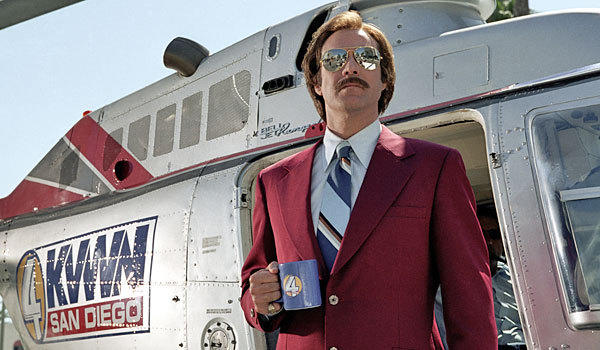 "Will Ferrell as Ron Burgundy in ""Anchorman."""