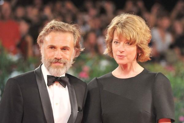 "Austrian actor Christoph Waltz and his wife Judith arrive for the screening of his film ""Carnage."""