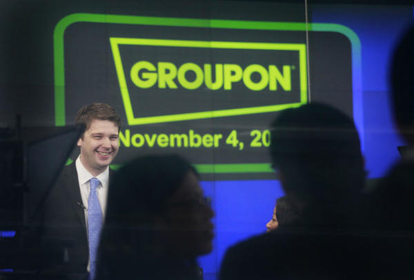 Groupon kicked out chief executive and founder Andrew Mason. Executive Chairman Eric Lefkofsky and Vice Chairman Ted Leonsis were appointed on an interim basis to the new Office of the Chief Executive.