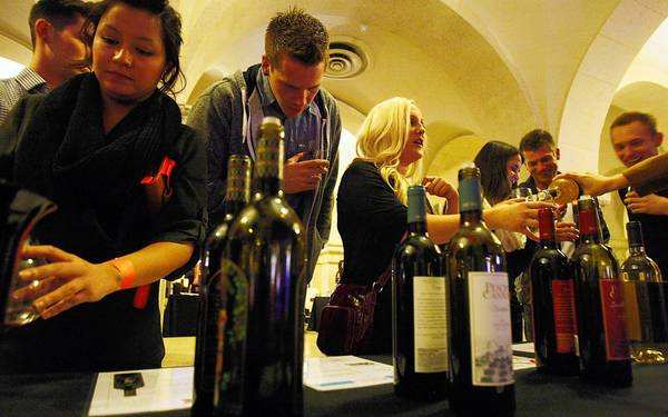 Wine Riot wine-tasting events such as this one in L.A. in November focus on educating and engaging young drinkers. The events began in Boston in 2009 and went nationwide two years later.