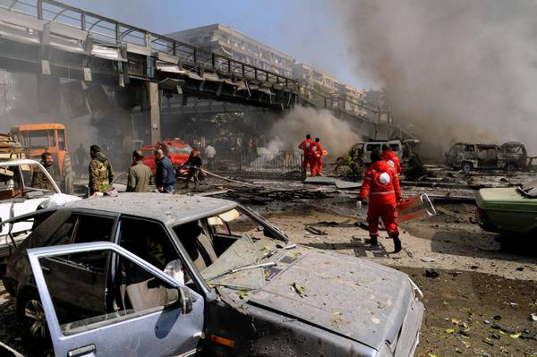 A massive car bomb exploded last week in central Damascus' Mazraa district, killing at least 53 people. The government blamed rebels, but they denied responsibility.