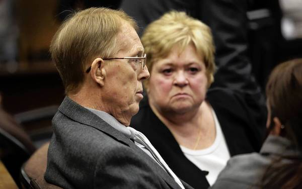 Loren Kransky, shown in court with his wife, Sheryl, alleges he suffered metal poisoning and other health problems from Johnson & Johnson's ASR XL hip implant.