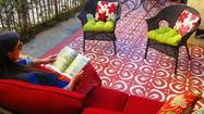 "When designers Karen and Guy Vidal went to revive a concrete area along the back of an East Hollywood apartment building that they owned, the couple turned to an inexpensive DIY trick: stenciling a ""carpet"" directly onto the patio."