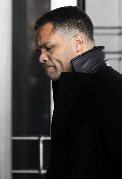 Jesse Jackson Jr. arrives at U.S. District Court in Washington, D.C., to face federal charges Feb. 20. He pleaded guilty to using campaign funds for personal items, like two stuffed elk heads.