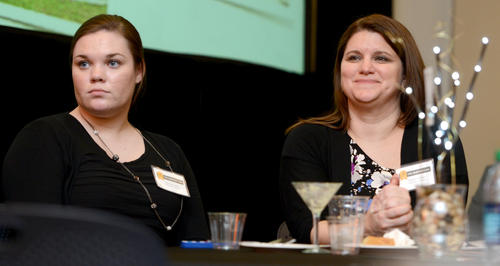 Attendees participate in The Morning Call's Top Workplaces Awards Ceremony held at Miller Symphony Hall on Wednesday, February 27, 2013.  The newspaper handed out 30 awards to the best workplaces in the Lehigh Valley, as ranked in the 1st annual survey.