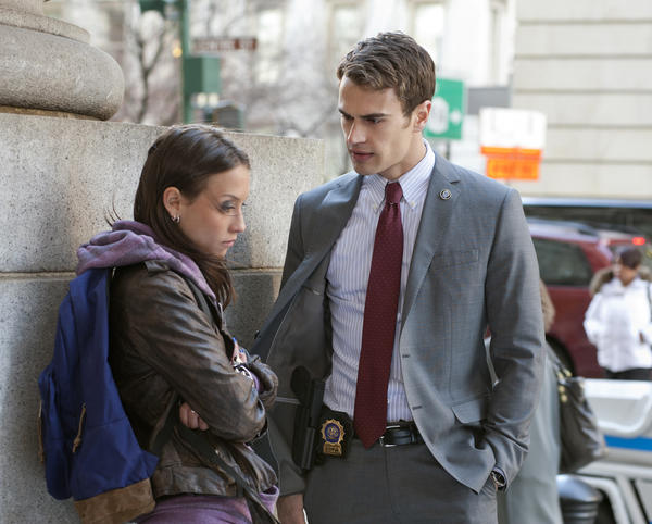 "Walter (Theo James) talks with his younger sister Agnes (Stella Maeve) in ""Golden Boy,"" the new CBS drama from executive producers Greg Berlanti and Nicholas Wootton."