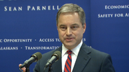 Fresh off his trip to Washington D.C. for the National Governors Association winter meeting, Governor Sean Parnell is expressing pessimism about the looming federal fiscal crisis due to automatic budget cuts set to take effect Friday.