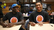 "Simeon's Jabari Parker spoke at an event promoting first lady Michelle Obama's ""Let's Move"" campaign Thursday at McCormick Place."