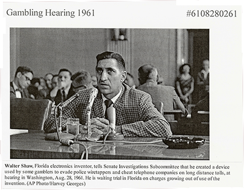 A photo of Walter Shaw testifying before the U.S. Senate.