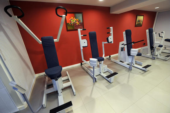 Gym at the Platium Hotel